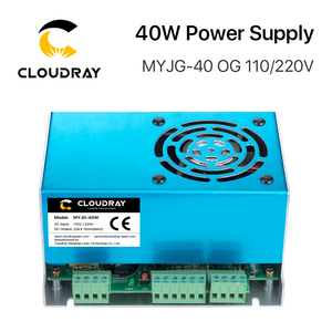 Image 4 - Cloudray 40W CO2 Laser Power Supply MYJG 40WT 110V/220V for Laser Tube Engraving Cutting Machine Model A