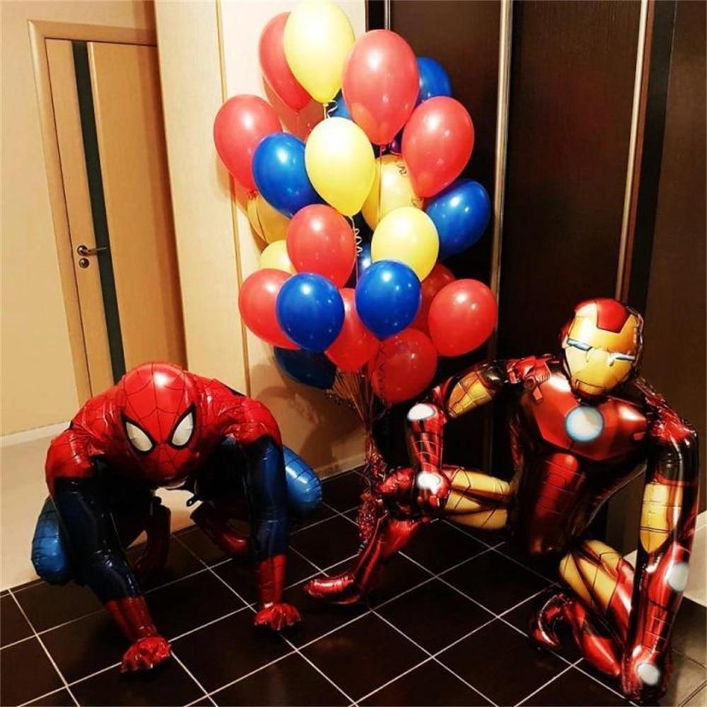 Batman and Iron Man Huge super hero balloons Spider Man