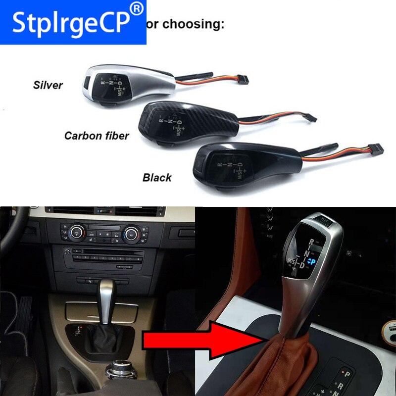 Auto voiture LED levier de levier de vitesse levier de changement de vitesse pour BMW série 3 2006-2011 E90 accessoires de voiture pré-facelift & facelifté