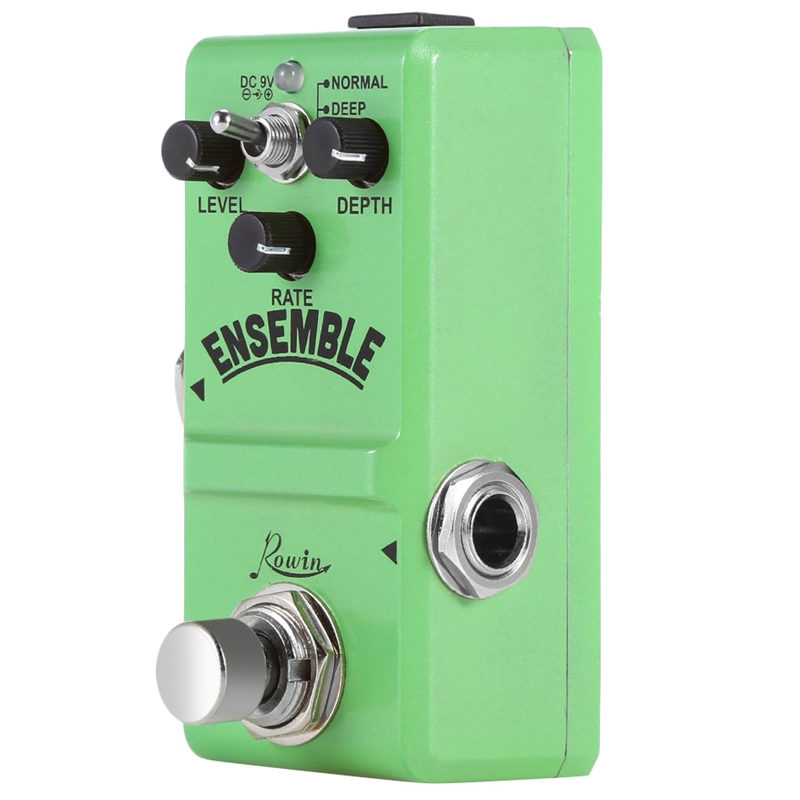 Rowin Ln-304 Ensemble Guitar Effect Pedal Classic Analog Chorus Effect Pedal True Bypass Aluminum Alloy Shell