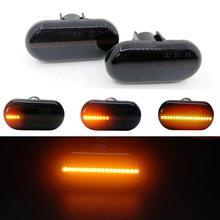 LED Dynamische Seite Marker Blinker Lichter Für Mercedes Benz Smart Fortwo 453 Renault 19 II Megane 1 Scenic Twingo master 2 Opel