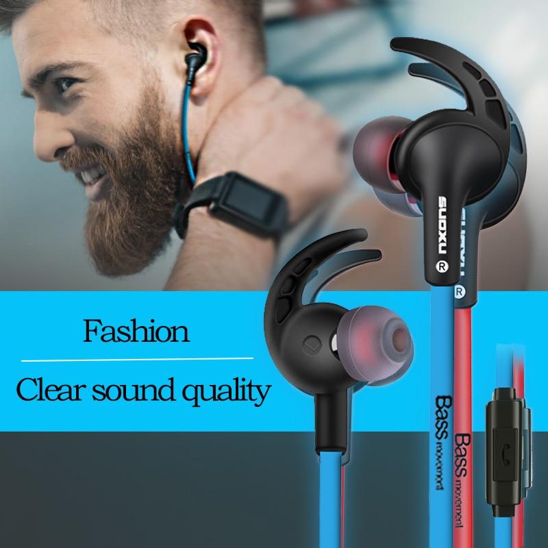 3.5mm Wired Earphones in Ear Stereo Earbuds Gaming Earphone In-Ear Chamber Ergonomic Mic Stereo