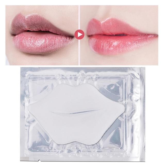 5/8/10Pack Lip Plumper Crystal Collagen Lip Mask Pads Anti Ageing Moisture Essence Gel Patch Lip Masks Lips Care Enhancer Pads 4