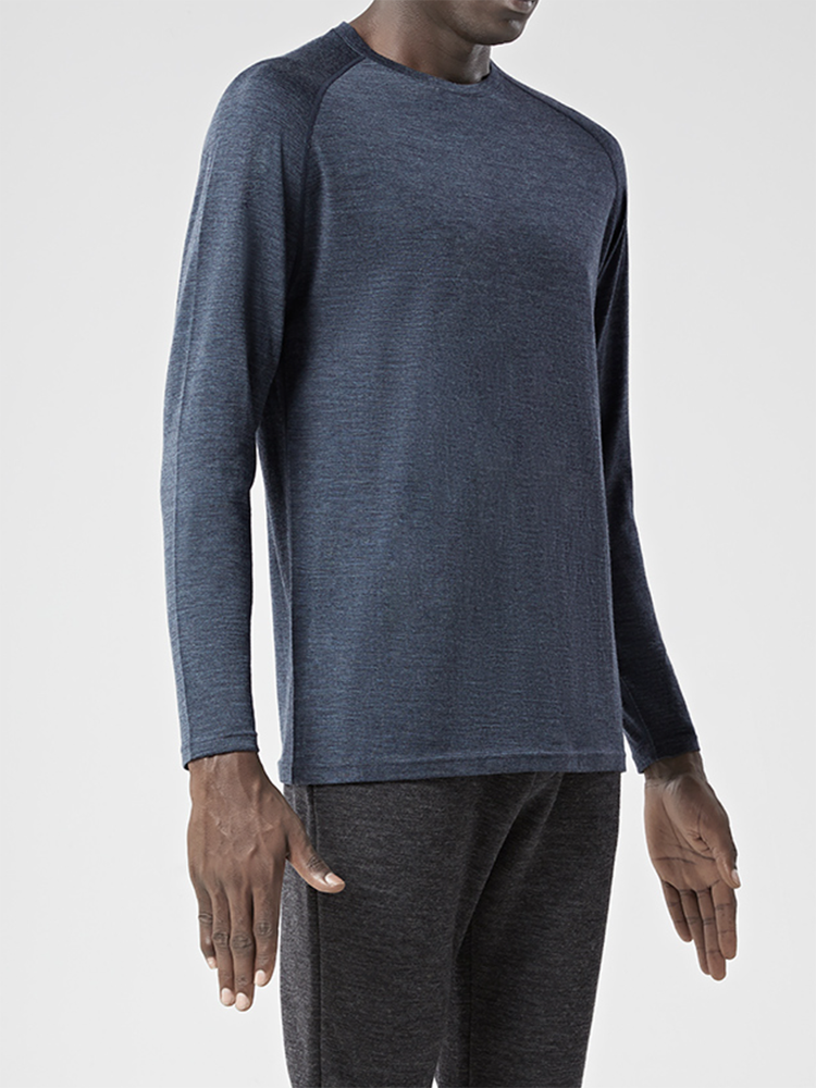 T-Shirt Jersey Long-Sleeve Sport 100%Merino-Wool Door Top-Out Base-Layer Midweight Warm