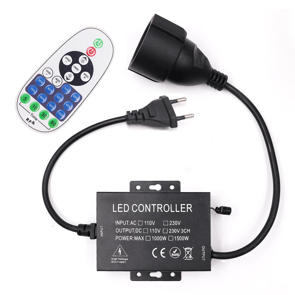 AC 110V 220V LED Strip Dimmer 23 Keys RF Wireless Remote Controller Dimmer For LED Bulb String/Christmas LED String EU/US/AU