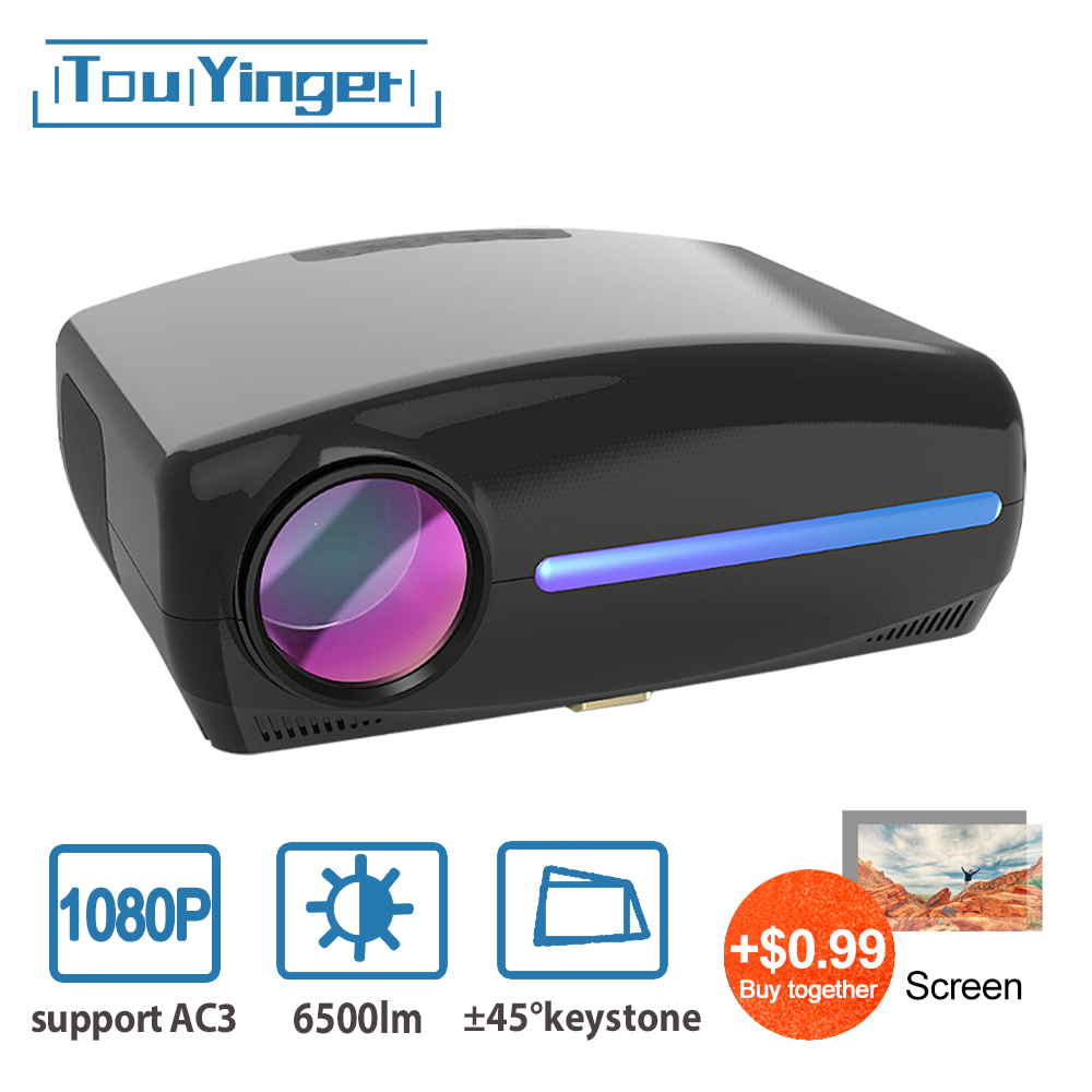 Touyinger S1080 C2 LED Native 1080P Projector full HD beamer AC3 Video 6500 Lumens Home cinema HDMI Android 9.0 WIFI Optional