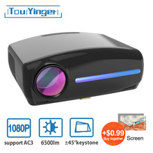 Touyinger S1080 C2 FÜHRTE Nativen 1080P Projektor full HD beamer AC3 Video 6500 Lumen heimkino HDMI Android 9,0 WIFI Optional(China)