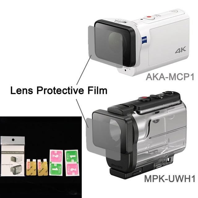 Film protecteur dobjectif clair pour AKA MCP1 MPK UWH1 pour sony action cam HDR AS300r AS50v accessoires de FDR X3000R
