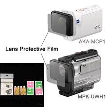 Şeffaf Lens Koruyucu Film Için AKA MCP1 MPK UWH1 Için sony eylem kamera HDR AS300r AS50v FDR X3000R aksesuarları