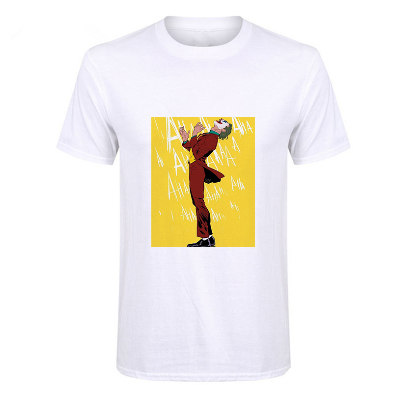 Showtly Joker Joaquin Phoenix T Shirt Short Sleeve Boy/girl/kids Top Tees Men Put On A Happy Face T-shirt Funny Horror Satan Tee