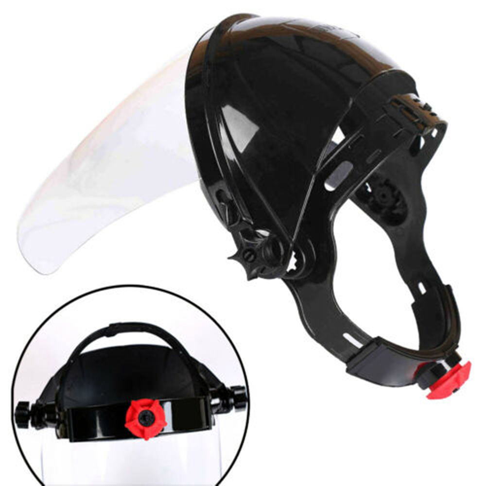 PC Safety Protective Cover Head-mounted Face Shield Clear Screen 34*22cm Face Protection Cover Accessori Auto Protective Mask