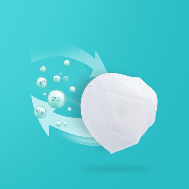 1PC Xiaomi Youpin KN95 Mask Antivirus Flu Anti Infection Masks Particulate Respirator PM2.5 Protective Safety Same as KF94 FFP2 2