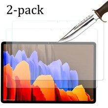 2 embalagens de vidro Temperado protetor de tela para Samsung galaxy tab S7 11 11 ''SM-T870 SM-T875 S7 + Plus 12.4 película protetora 9H 2.5D