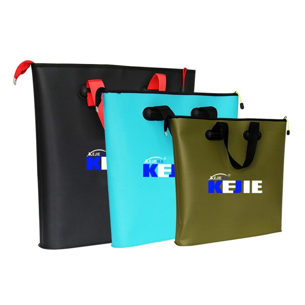 4 Sizes Portable Folding Fishing Bag EVA Foldable Bucket Outdoor Fishing Water Tank Fish Wear Bucket Fish Care Gear Bag