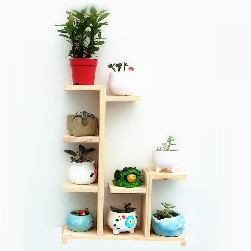 Etagere Pour Plante Rak Bunga For Ladder Wood Plant Indoor Stojak Na Kwiaty Dekoration Outdoor Balcony Shelf Flower Stand