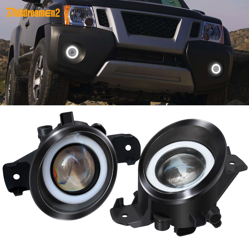2 Pieces LED Angel Eye Fog Light Car Front Bumper Fog Lamp Daytime Running Light White 12V For <font><b>Infiniti</b></font> M45 M35 <font><b>QX60</b></font> <font><b>JX35</b></font> G37 image