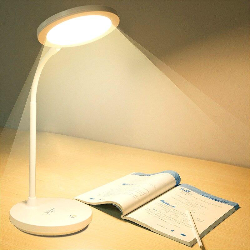 Étude grande lampe de Table Portable lampe de bureau Led usb Rechargeable 1200mAh lampe de lecture alimentée par batterie lampes de Table de bureau 3 couleurs