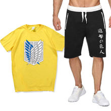 T-Shirt Suit Top Shorts Fashion Short Sleeve Suit for Men and Women
