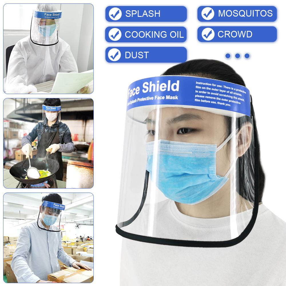 Motorcycle Protective Mask Transparent Protective Face Shield Mask Dust-Proof Oil-Proof Anti-Splash Face Protection Mask