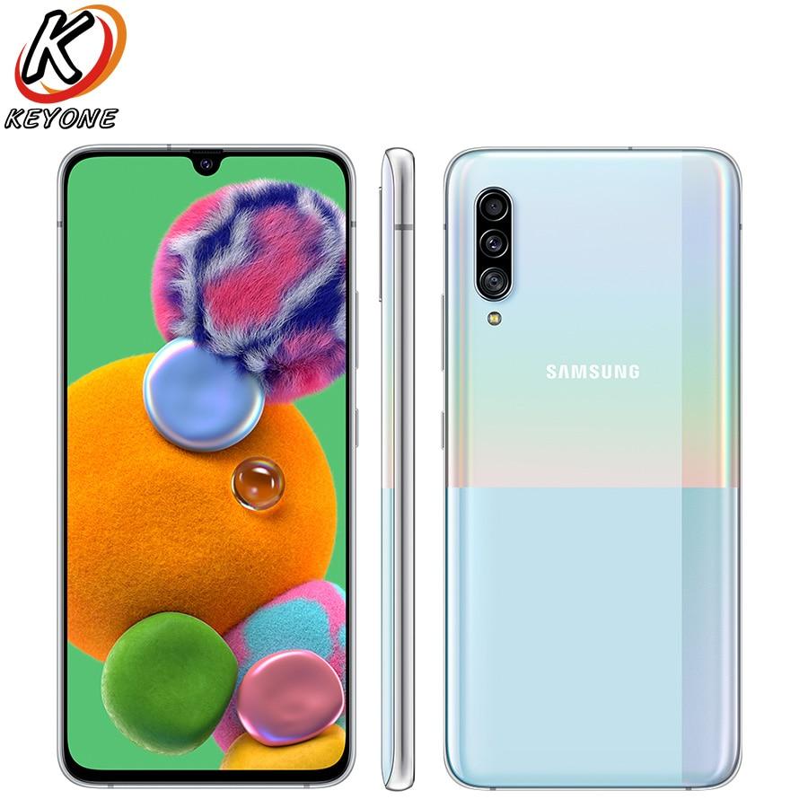 Смартфон Samsung Galaxy A90 A9080, телефон с экраном 6,7 дюйма, 8 Гб ОЗУ 128 Гб ПЗУ, восьмиядерным процессором Snapdragon 855, тройной тыловой камерой, NFC, двумя SIM-к...