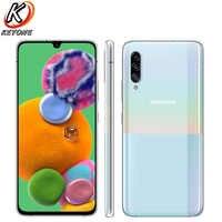 """Samsung Galaxy A90 A9080 telefon komórkowy 5G 6.7 """"8 GB pamięci RAM 128GB ROM Snapdragon 855 octa core potrójne tylna kamera NFC Dual SIM telefony"""