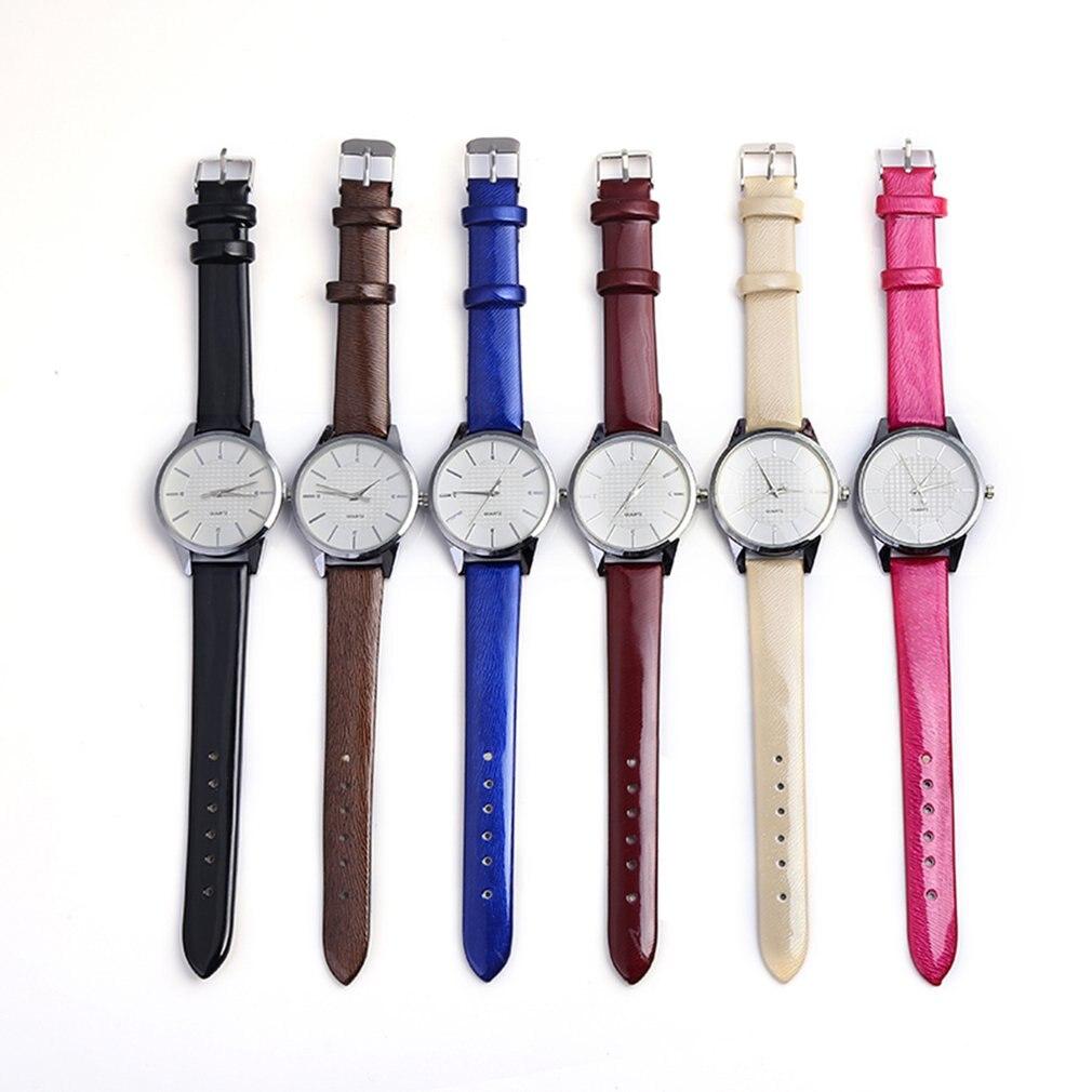 2018 Fashion Women Wrist Watch Quartz Movement Round Dial PU Leather Wristband Classic Popular Casual Time Watch