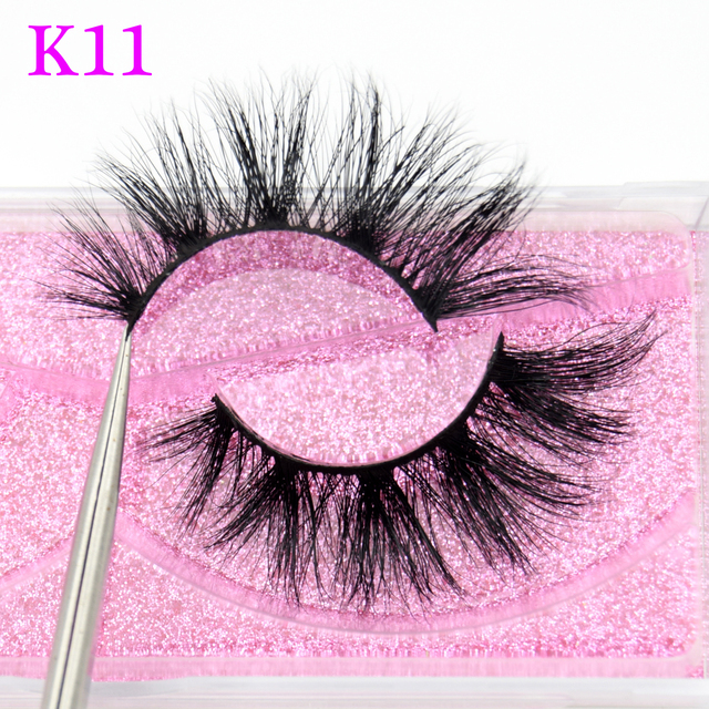 Visofree Mink Eyelashes 3D Mink Hair False Eyelashes Natural Thick Long Eye Lashes Fluffy Makeup Beauty Extension Tools K11
