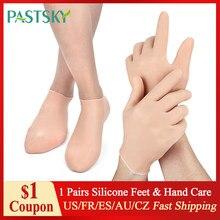 Chaussettes de soins des pieds et des mains, 1 paire, chaussettes en Gel de Silicone, hydratantes, protège-mains, Anti-fissuration, Spa, usage domestique