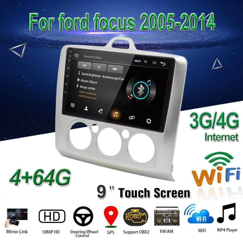 """フォードフォーカス 2005-2014 EXI MT 2 3 MK2/MK3 カーマルチメディアプレーヤー 9 """"アンドロイド 8.1 車ラジオ OBD2 GPS WiFi 3 グラム/4 グラム BT デシベル +"""