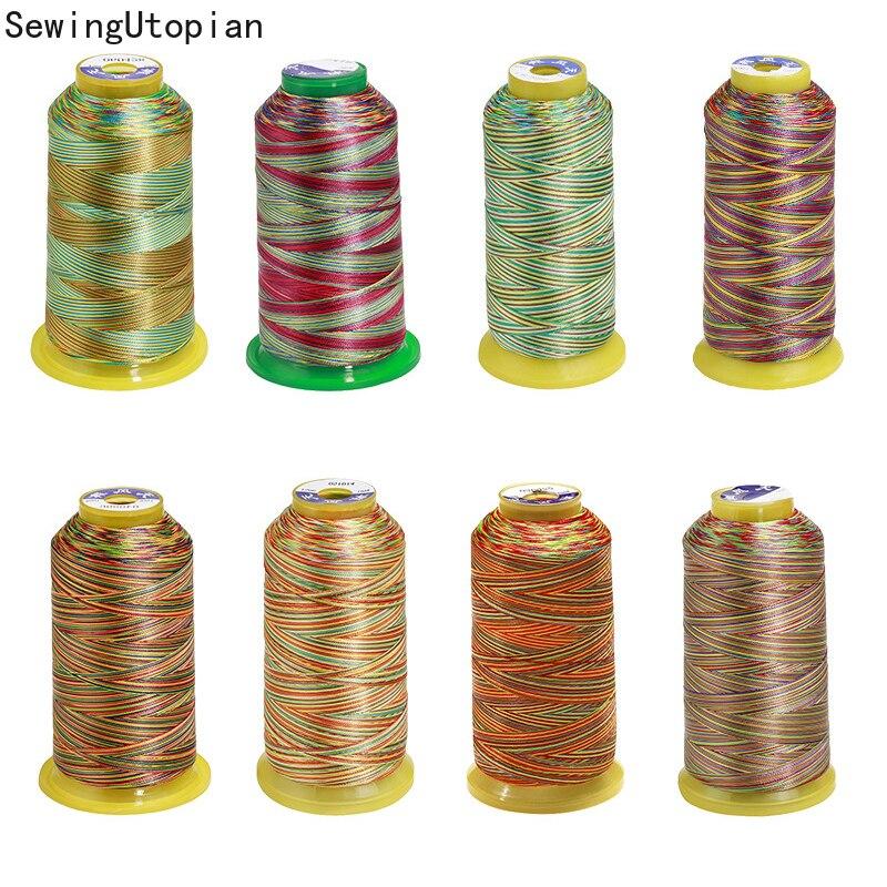 Разноцветная швейная нить ручная стеганая вышивка 150D/3 швейная нить пестрая полиэфирная пряжа для рукоделия