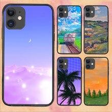 Sky Landscape Cute For iPhone 11 Case 6 Mini Pro XS Max X XR 11 8 Plus Luxur Soft TPU Airbag Cover 12Pro 11Pro 12Mini