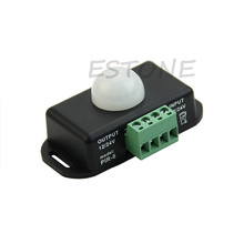 Automatique DC 12V-24V podczerwieni przełącznik czujnika ruchu PIR wlać la lumière LED 1XCF tanie i dobre opinie CVBNVN CN (pochodzenie) 60 degrees Wyjścia Sygnału Fotoelektryczny