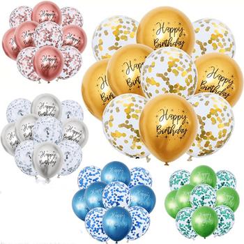 5 10 20Pcs12inch metalowe balony urodzinowe drukowany napis na rocznicę wszystkiego najlepszego z okazji urodzin Decroration z balonami tanie i dobre opinie CN (pochodzenie) Lateks Ślub i Zaręczyny przyjęcie urodzinowe Na Dzień Dziecka Powrót do szkoły THANKSGIVING Na imprezę