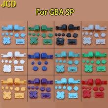 JCD 10 ชุดพลาสติกที่มีสีสันชุดปุ่มสำหรับ GameBoy Advance SP GBA SP B เลือก Start Power ปิด L R ปุ่ม D Pad