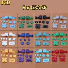 JCD 10 set Colorful Plastic Full Button Set For GameBoy Advance SP  for GBA SP A B Select Start Power On Off L R Buttons D Pad