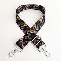 Correa de bolso con estampado geométrico de mariposa para mujer, correas de colores para bandolera de hombro, accesorios, correas ajustables