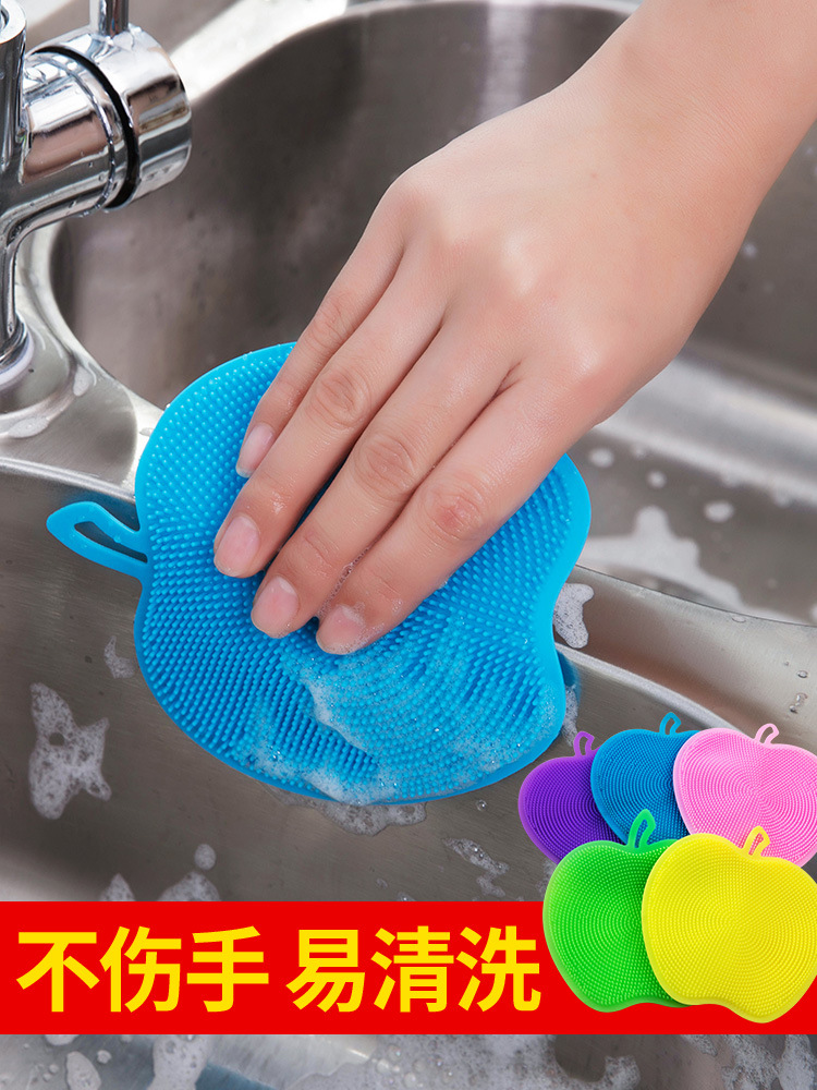 Multi functional Kitchen Household Cleaning Cloth Scouring Pads Spong Mop Silicon Dishwashing Brush Scouring Cleaningcloth Usef|Cleaning Cloths| |  - title=