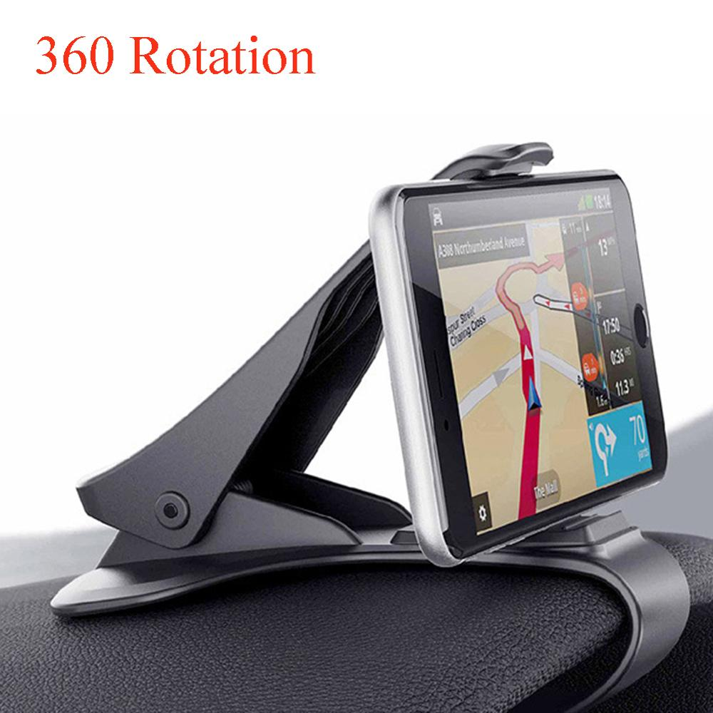 360 rotation Car Dashboard Holder Clamp Clip Mount Stand For Smartphone Car GPS Stand Holder accessories