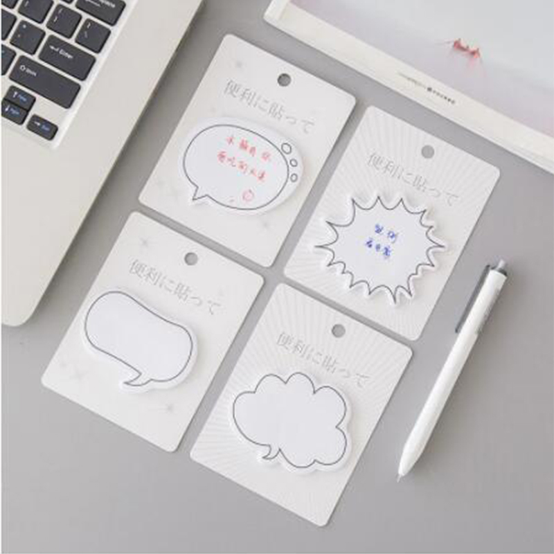 100 pcs Fresh and Beautiful Dialogue Notebook N times Japanese Note Paper Handbook Label Note