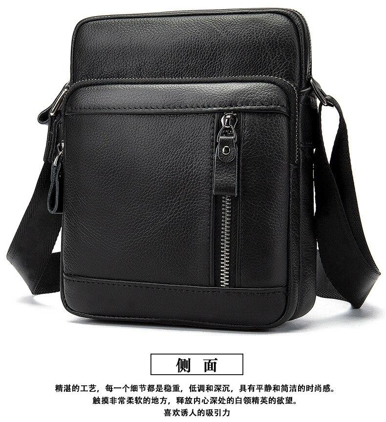 Мужская сумка мессенджер из натуральной коровьей кожи, мужской портфель, сумка на плечо, маленькая Повседневная сумка с клапаном, мужские сумки через плечо, черные сумки Сумки-кроссбоди      АлиЭкспресс