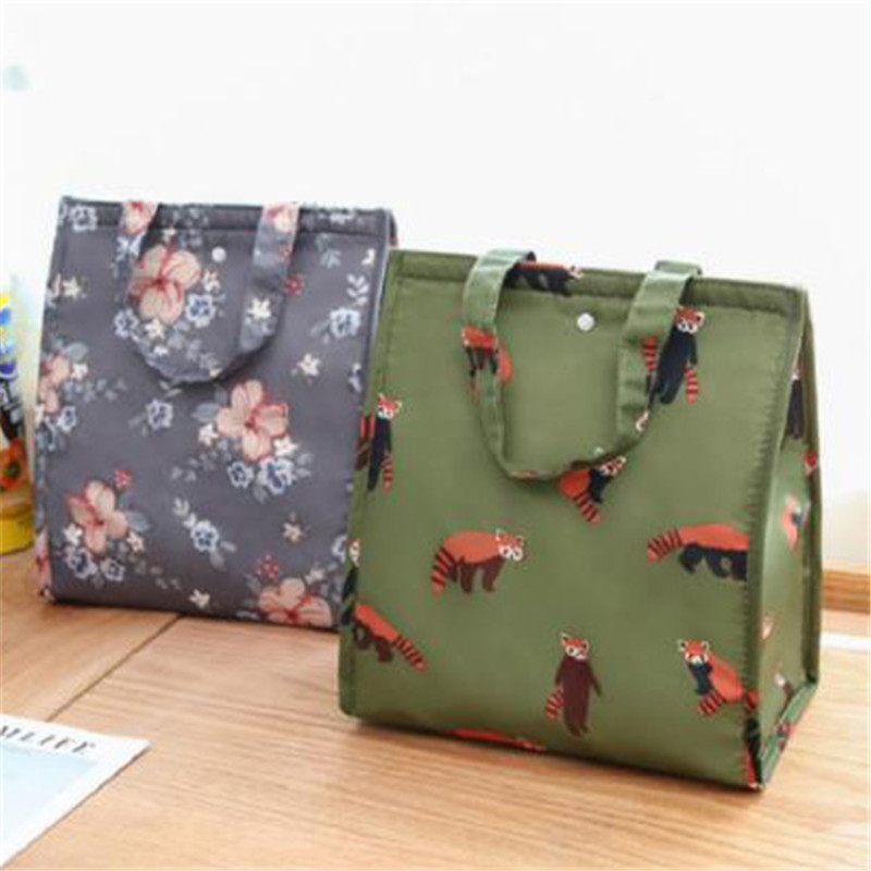 Vogvigo Waterproof Tote Outdoor Travel Organizer Imitation Rattan Lunch Storage Bag Box Insulated Thermal Lunch Box Unisex