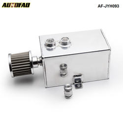 AUTOFAB Racing 3L uniwersalny wysoki przepływ przegrodami zbiornik do pobierania oleju z odpowietrznik i spustowy Tap 3LT przegrodami AF-JYH093