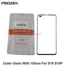 2in1 With 150um OCA Front Glass Lens Replacement For Samsung Galaxy S10 G973 S10+ G975 Mobi