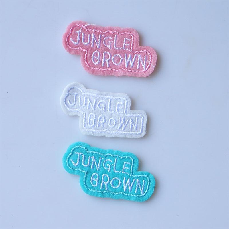 1 PCS 3D Bonito Pequeno longo Inglês letras Adesivo de Patch para Roupas para o Menino Menina T-shirt DIY Patches Emblemas