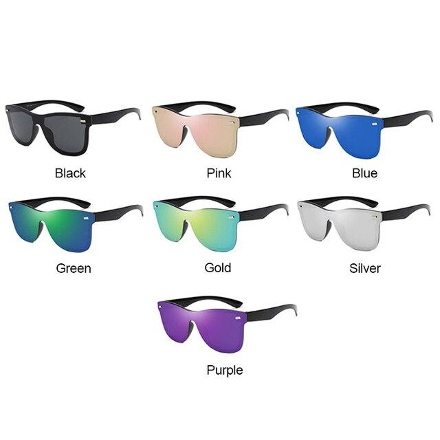 RBRARE-gafas de sol Siamesas para hombre y mujer, lentes de sol de lujo coloridas, Retro, con espejo rosa, 2021 6