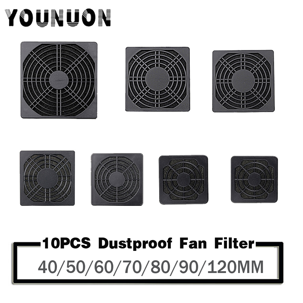 10pcs Dustproof 120mm Case Fan Dust Filter Guard Grill Protector Cover For PC Compute Cleaning Fan Cover Case 40/50/60/70/80/90