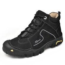 Брендовые зимние ботинки из натуральной кожи; Мужская обувь