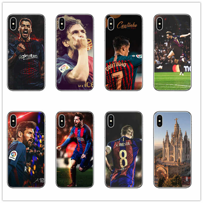 Футбол барселона Lionel Messi Rakitic Coutinho Suarez Телефон чехол для iphone 6 7 8 X Plus 5 5S 6s Se X максимальный чехол iphone Xs 7 8