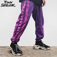 Штаны с широкой полоской по бокам, спортивные штаны для мужчин в стиле Харадзюку, модные повседневные брюки в стиле хип хоп, уличная одежда, 2018 г., на лето и осень