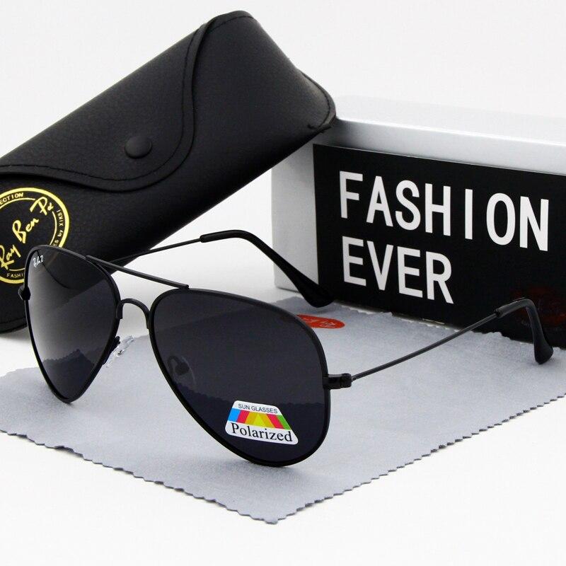 Clássico óculos de sol polarizados homem condução preto óculos de sol masculino piloto marca designer espelho vermelho uv400 dos homens eyewear esportes